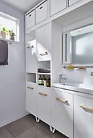 Colonne de salle de bains GoodHome Ladoga blanc L. 40 x H. 190 x P. 36 cm