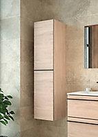 Colonne de salle de bains Lines décor chêne naturel H.130 x L.35 cm
