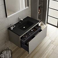 Colonne de salle de bains à suspendre Pura noir H. 150 cm