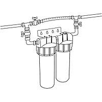 Combiné anti tartre Dualofiltre Super 2 + accessoires + Bypass
