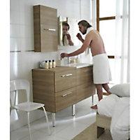 Commode de salle de bains bois Cooke & Lewis Seton 60 cm
