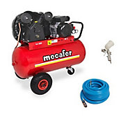 Compresseur 100L Mecafer + accessoires