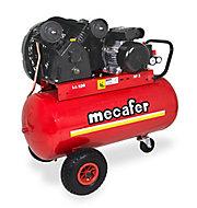 Compresseur 100L Mecafer + coffret clé à chocs offert