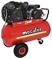 Compresseur lubrifié courroie Mecafer 100L 3HP