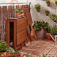 Console de jardin en acacia GoodHome Virginia 26/133 x 63 cm