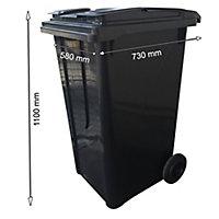Conteneur à ordures ménagères sur roues Bellijardin 240L