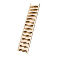 Contremarche escalier droit Normandie sapin