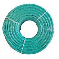 Corde polypropylène Diall ø 10 mm x 50 m vert