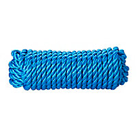 Corde torsadée en polypropylène bleue Diall ø12 mm, 7.5 m