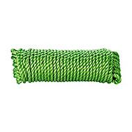 Corde torsadée en polypropylène verte DIALL ø8 mm, 25 m