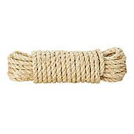 Corde torsadée en sisal Diall ø8 mm, 10 m