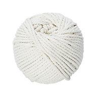 Cordeau de maçon en fil de coton blanc DIALL ø3 mm, 20 m