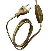 Cordon 1,5m avec interrupteur à bascule + prise or