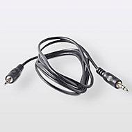 Cordon audio Jack 3.5 Mâle / Mâle noir Blyss Or, 1.5 m