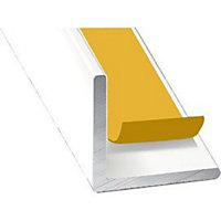 Cornière aluminium blanc auto-adhésive 20 x 20 mm, 2.60 m