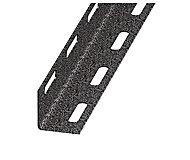 Cornière perforée acier laqué gris martelé 27 x 27 mm, 1 m