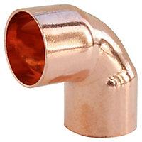 Coude petit rayon à souder embouts femelles angle 90° pour tube cuivre Ø16, lot de 10