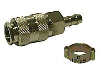 Coupleur cannelé tuyau Ø 8 x 13 mm