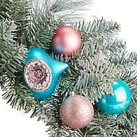 Couronne décoré boule couleur 50 cm