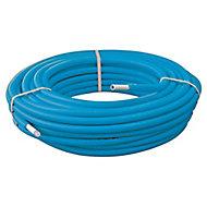Couronne tube Multicouche prégainé bleu Ø16 longueur 25 mètres