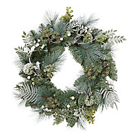 Couronne vert blanchi 60 cm