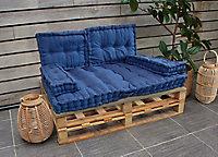 Coussin accoudoir bleu 20 x 58 x 10 cm