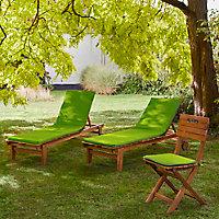 Coussin bain de soleil Cocos vert