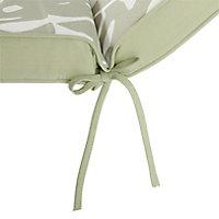 Coussin bain de soleil GoodHome Tiga green tea 55 x 190 cm