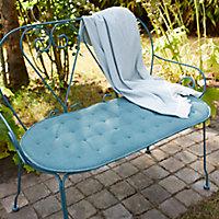 Coussin banc GoodHome Vernon bleu 45 x 94,5 cm