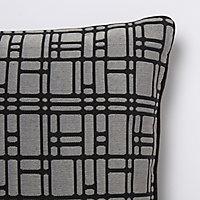 Coussin Basalt gris foncé 40 x 40 cm