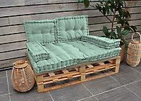 Coussin cale reins vert d'eau 40 x 60 x 10 cm