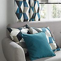 Coussin Colours Bernau 3D bleu 50 x 50 cm
