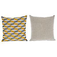 Coussin Colours Cubeb jaune 43 x 43 cm
