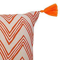 Coussin Colours Sori zigzag orange 30 x 50 cm