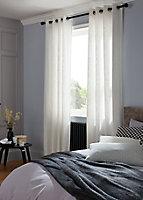 Coussin Dashes noir et blanc 40 x 60 cm