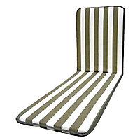Coussin de bain de soleil Pinaki gris et blanc 192 x 58 cm