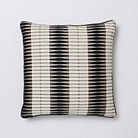 Coussin Delhi noir et blanc 50 x 50 cm