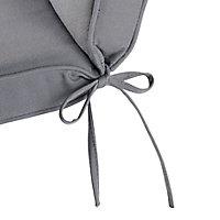 Coussin fauteuil haut GoodHome Tiga gris 40 x 94 cm