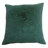 Coussin Fluse 45x45 cm Motif feuille matelassée Vert pin