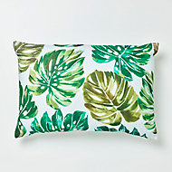 Coussin GoodHome Agathe vert et blanc 40 x 60 cm