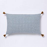 Coussin GoodHome Campton bleu 30 x 50 cm