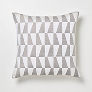 Coussin GoodHome Lindi gris 45 x 45 cm