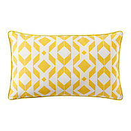 Coussin GoodHome Madang 30 x 50 cm jaune