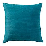 Coussin GoodHome Pahea bleu foncé 45 x 45 cm