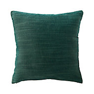 Coussin GoodHome Pahea vert foncé 45 x 45 cm
