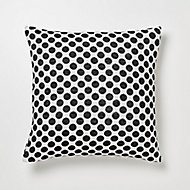 Coussin Larinar noir et blanc 50 x 50 cm