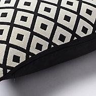 Coussin Misore noir et blanc 40 x 40 cm