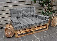 Coussin palette gris 80 x 120 x 10 cm