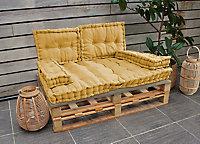 Coussin palette jaune 80 x 120 x 10 cm