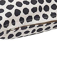 Coussin à pois Blooma Denia blanc et noir 45 x 45 cm